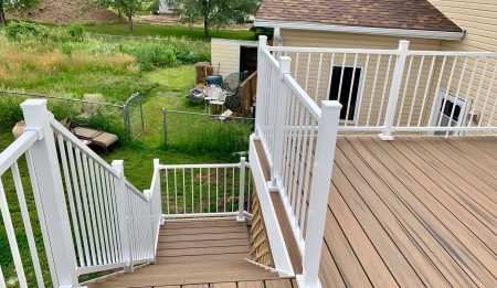 Completed Deck Project by A to Z Contractors