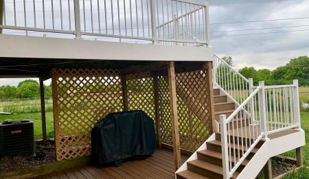 Deck contractor project by A to Z